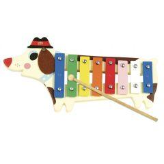 Xylophone Métallophone Chien Jouet Instrument Musique Vilac