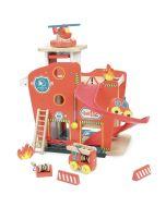 Caserne de pompiers Jouet en bois Enfant de 3 à 8 ans Vilac, Vilacity