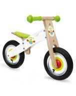 Draisienne Hibou en bois, vélo sans pédale blanc et vert, Scratch Europe