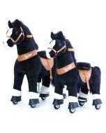Cheval à roulettes Blacky White, Pony Cycle Small & Medium, Livraison Gratuite