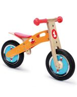 Draisienne en bois, vélo sans pédale orange, Scratch Europe