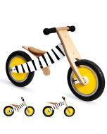 Draisienne zèbre vélo en bois qui évolue avec votre enfant Scratch, Livraison Gratuite
