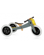 Vélo évolutif Wishbone gris, en bois et sans pédale, Vélo 3en1 28-46cm